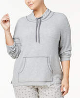 Nautica Plus Size Cowl-Neck Knit Pajama Top