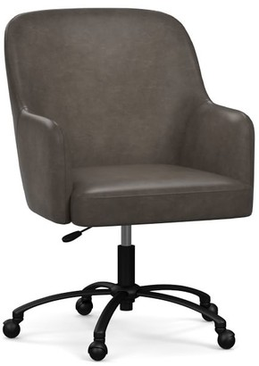 Pottery Barn Dublin Leather Swivel Desk Chair