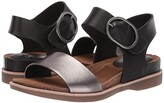 Sofft Bali (Black/Anthracite Toscana/Cow Metallic) Women's Sandals