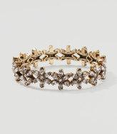 LOFT Floral Crystal Stretch Bracelet
