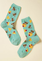 ModCloth What's the Buzz? Socks in Aqua