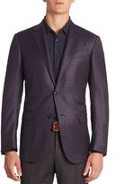 Ermenegildo Zegna Plaid Wool Jacket