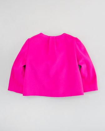 Milly Minis Ava Jacket, Shocking Pink, Sizes 2-6