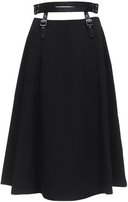Noir Kei Ninomiya High Waist Satin Skirt W/ Belt