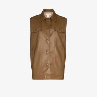 MATÉRIEL Faux Leather Waistcoat