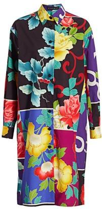 Etro Japanese Floral Poplin Shirtdress
