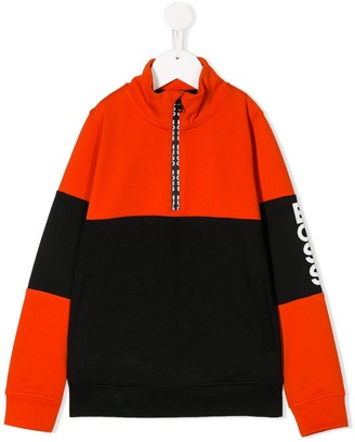 Boss Kids Panelled Sweatshirt