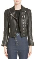 Alexander Wang Women's Snap Leather Moto Jacket