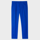 Paul Smith Men's Indigo Wool Tapered Trousers