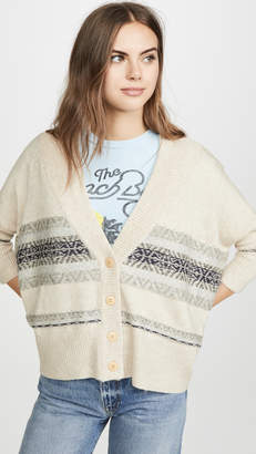Chaser Fair Isle Drop Shoulder Oversized Cardi