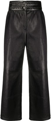 Chanel Pre Owned 2010s Chain Motif Leather Trousers