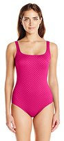 Gottex Women's Diamond In The Rough Square-Neck One-Piece Swimsuit