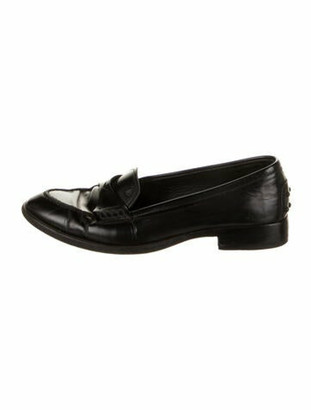 Tod's Leather Loafers Black