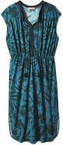 Joe Fresh Women's Fringe Trim Dress, Teal (Size S)
