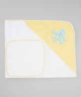 Luvable Friends Octopus Hooded Towel & Washcloth