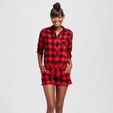 Xhilaration Women's Woven Flannel Romper