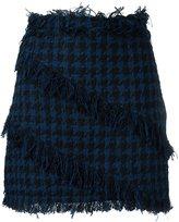 MSGM tweed houndstooth mini skirt
