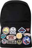 Topman Black Nylon Badge Backpack