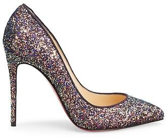 Christian Louboutin Pigalles Follies 100 Glitter Pumps
