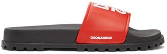 DSQUARED2 Red Logo Slides
