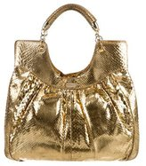 Lambertson Truex Snakeskin Handle Bag