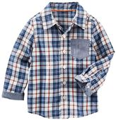 Osh Kosh Toddler Boy Chambray Accent Plaid Button-Down Shirt
