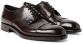 Prada Cap-Toe Spazzolato Leather Derby Shoes