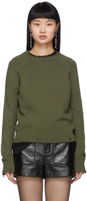 Saint Laurent Khaki Used Knit Sweater