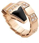 Bulgari 18K Rose Gold Serpenti Black Onyx Ring