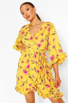 boohoo Floral Skater Dress