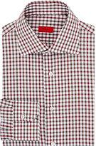 Isaia MEN'S DRESS SHIRT-RED SIZE 17.5