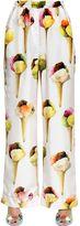 Dolce & Gabbana Ice Cream Print Silk Twill Pants