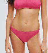 Missguided Textured Bikini Bottom