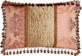 "Sweet Dreams Rue de L'amour Pillow with Beaded Silk Center, 15"" x 23"""
