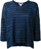 Comme des Garcons striped sweater - women - Linen/Flax - XS