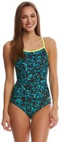 Speedo Women's Endurance Lite Print Cross Power One Piece Swimsuit 8149355