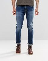 Nudie Jeans Long John Skinny Jeans Navy Shade Dark Blue
