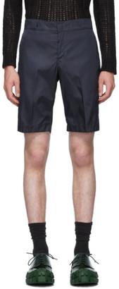 Prada Navy Nylon Gabardine Shorts