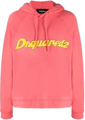 DSQUARED2 Logo-Print Hooded Sweatshirt