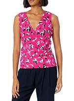 Armani Exchange A|X Women's Classic Sleeveless V-Neck Blouse
