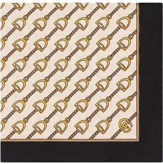 Gucci Scarf with stirrups print