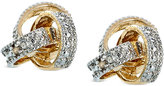 Townsend Victoria 18k Gold over Sterling Silver Earrings, Diamond Accent Love Knot Stud Earrings
