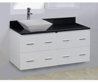 "American Imaginations 48"" Single Modern Wall Mount Bathroom Vanity Set Hardware Finish: Brushed Nickel"