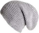Black Light Grey Cashmere Slouch Beanie Hat