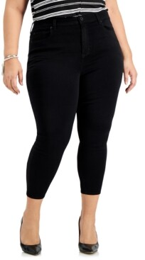 Celebrity Pink Trendy Plus Size Black Skinny Ankle Jeans