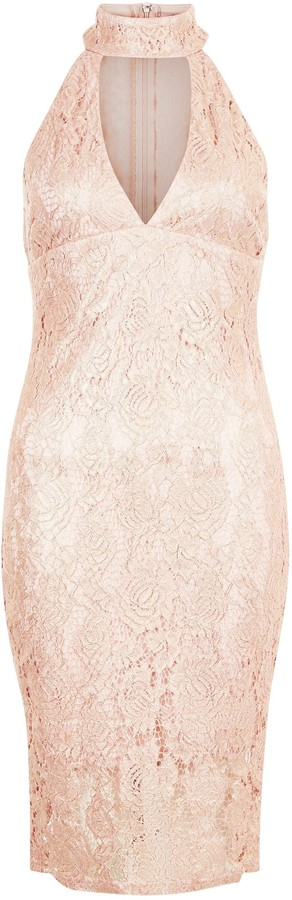 Thumbnail for your product : New Look AX Paris Shell Lace Choker Neck Dress