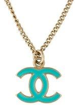 Chanel Enamel CC Pendant Necklace