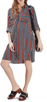 Topshop Stripe Oversize Shirtdress (Maternity)