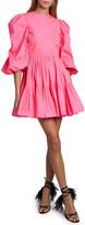 Valentino Tiered Skirt Taffeta Dress