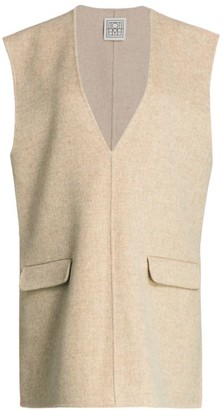 Totême Alcoba Sleeveless Wool & Cashmere Gilet
